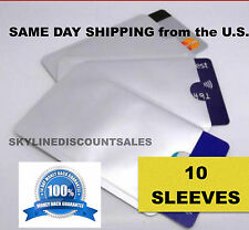 10x RFID Blocking Sleeve Credit Card IC Metal Shielding Protector Secure your ID