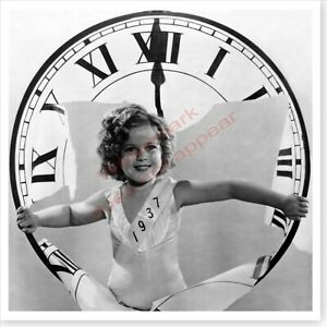 Movie Actress Shirley Temple 1937 New Year Clock 10 x 10 Silver Halide Photo