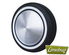 "Atlas Whitewall Tyres Stripe Toppers 4x 15"" White Walls Black Edge Port-O-Wall"
