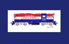 "Bangor & Aroostook GP9 #1776 11""x17"" Matted Print Andy Fletcher signed"