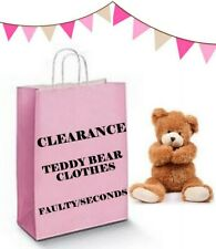 Teddy Bear Clothes fits Build a Bear Teddies Imperfect Faulty Not Quite Right