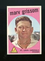 1959 Topps BB Card #243 Marv Grissom St. Louis Cardinals NM-MT OR BETTER