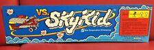 1986 VS. SKY KID Arcade Marquee Coin Op Video Arcade NOT A REPRODUCTION - NOS!