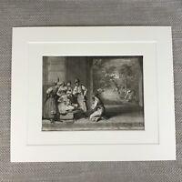 Antik Original 18th Century Gravierung Picart Religiös Ceremonies Banians