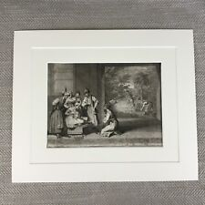 Rare 18th Century Engraving Picart Moubach Religious ceremony of the Banians