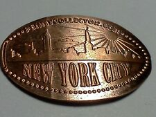 """New York City Skyline-Elongated/Preseed Penny """"copper"""" P-104"""