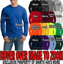 Gildan MENS Cotton LONG SLEEVE Preshrunk T-Shirt S, M, L, XL, 2XL, 3XL, 4XL NEW