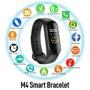 M4 Smart Band Watch Blood Pressure Heart Rate Fitness Tracker Bluetooth Sport Br