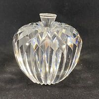 Waterford Crystal Apple Paperweight BRILLIANT CUT CRYSTAL APPLE & STEM 3 IN. T