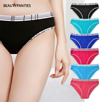 6,12 Pack Women's Hipster Underwear Soft Cotton Low Rise Panties for Everyday