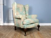 Vintage French Wingback Armchair
