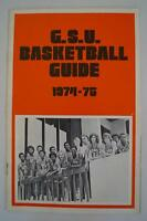 Vintage Basketball Media Press Guide Georgia State University 1974 1975