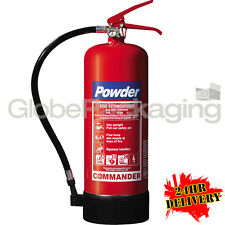6KG DRY POWDER ABC FIRE EXTINGUISHER WAREHOUSE OFFICE INDUSTRIAL - 24HR DEL
