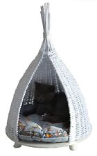 Сat Tepee Wigwam Wicker Teepee Bed Modern Igloo Dog Lodge Cat House Cat Bed Dog
