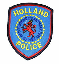 HOLLAND MICHIGAN MI Police Sheriff Patch ROYALTY LION CROWN ARROWS CITY SEAL ~