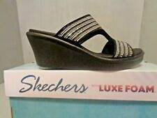 Women's Skechers Rumble On-Bling Gal S/O Sandals Mules Sizes NIB! New! Glitters!