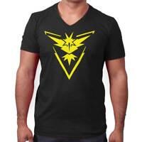 Pokemon Mobile Team Instinct Gaming V-Neck Tees Shirts Tshirt T-Shirt