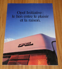 Catalogue gamme OPEL de 1982
