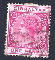 GIBRALTAR VARIETY - N°:9 a-PINK COLOR- YEAR 1886 -     CV : 7 €