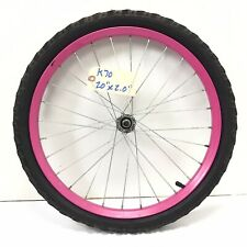 "Complete 20"" Bicycle Front Pink Wheel with 2.0"" Tire Kids Bike #k70"