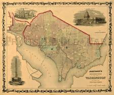 Washington DC 1862 Map