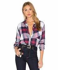 SOLD OUT!!!POPULAR RAILS Hunter Plaid Shirt  WHITE INDIGO  BLUSH XSSM