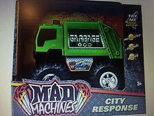 City Response Green Garbage Vehicle Truck Light and Sound - New