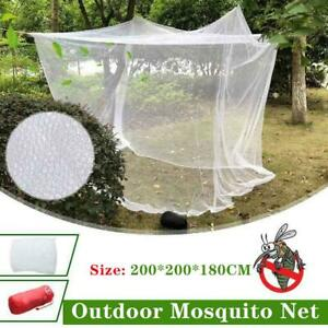 Large White Camping Mosquito Net Indoor Outdoor Insect Netting Tent Canopy w/Bag