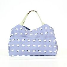 Sheep Lilac Purple Print Oil Cloth Shopper Tote Baby Day Bag
