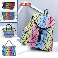 丿丿Rainbow Bag Geometric Handbag Holographich Purses and Handbags Luminous Women
