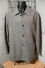 Mens Chiarelli topcoat overcoat jacket Taupe Brown Size 42 Regular