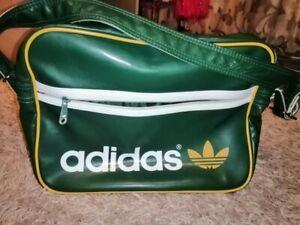 Adidas Unisex Sport Gym Green Trefoil Cross Body Shoulder Vintage Messenger Bag