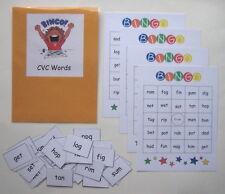 Teacher Made Literacy Center Educational Resource Game Cvc Words Bingo