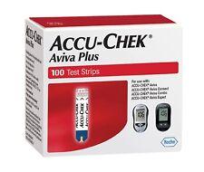100 ct. - Accu-Chek Aviva Plus Test Strips - Exp:  5-31-20