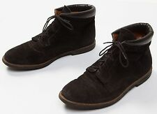 Men's Bally Brown Suede Leather Casual Ankle Boots Shoes Size Sz US 10.5 M
