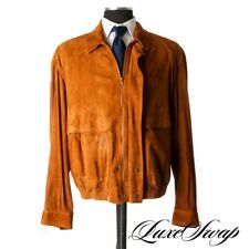 ICONIC Bally Snuff Tobacco Chevre Suede Leather Blouson Bomber Jacket Coat NR