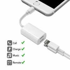Dual Lightning Splitter Adapter Headphone Audio Charge Cable For iPhone 8/7/6/X