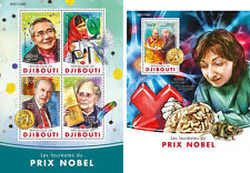 Djibouti Nobel Prize Winners Medicine Peace Science Personalities MNH stamp set