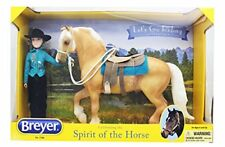 Breyer Horses Traditional Size Let's Go Riding Western Gift Set #1788 Palomino