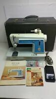 Vintage Singer Touch and Sew Sewing Machine Model 604E w/ Instruction Case Pedal