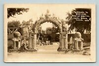 RPPC Gateway to Stations Grotto West Branch IA Real Photo Iowa Postcard