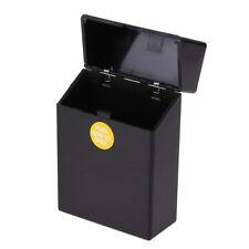 Black Plastic Metal Cigar Smoke Cigarette Box Holder Tobacco Storage Case Gift