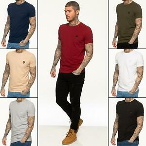 Enzo Mens T Shirt Slim Fit Muscle Fit Stretch Tee Gym Crew Neck Short Sleeve Top