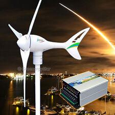 Apollo 550 W 24 V AC Magnet Wind Turbine Generator 3 Blarge + Hybrid Controller