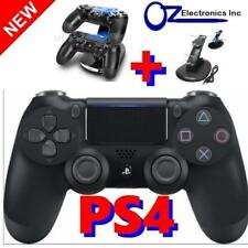 Sony PS4 Playstation Wireless Dualshock Controller BLACK Genuine & charger stand