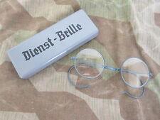 Wehrmacht Dienst Brille Dienstbrille Nickelbrille + Etui WW2 WH WK2 Army Glasses