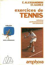 Livre exercices de tennis E. Alessandrini Ci. Garez book
