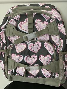 NWOT Pottery Barn Kids Girls Backpack Hearts Sz