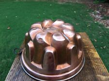 "8"" Copper Cake/Jelly Dessert Mold Gothic/Dome Design Vintage Hanging Loop"