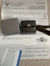 With Appraisal Report Value $3,000 18k White Gold Mounting Ring -diamonds
